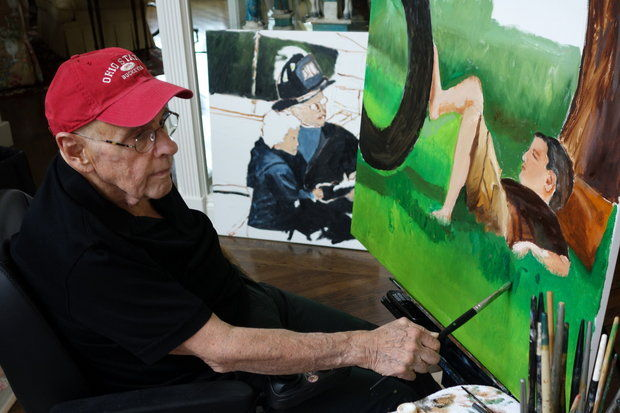 InMotion founder Alan Goldberg at the easel