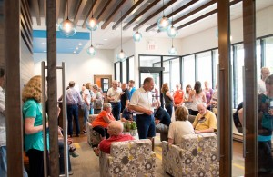 InMotion's comfortable lobby full of clients and advocates